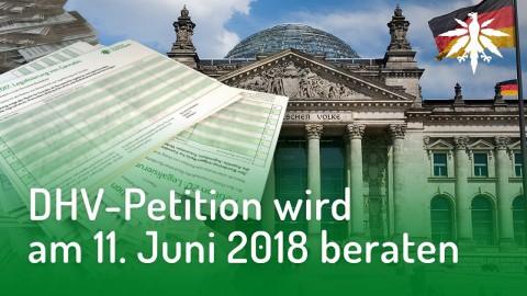 DHV-Petition wird am 11. Juni beraten | DHV-Audio-News #166