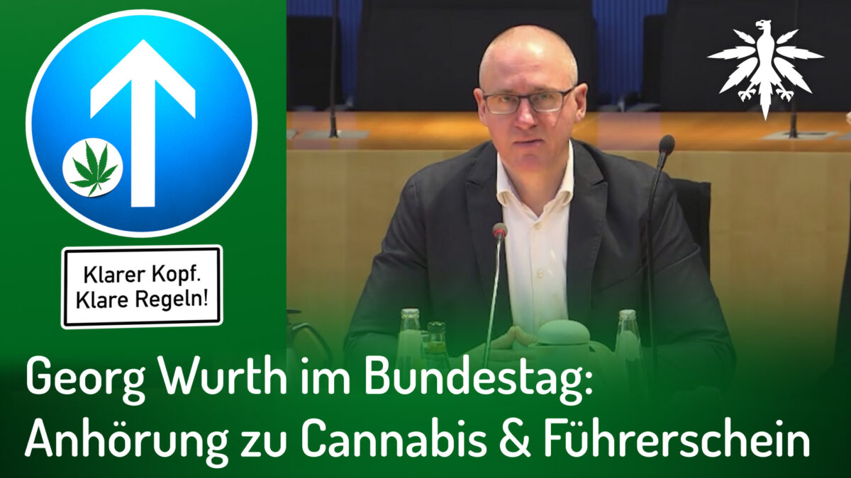 Georg Wurth im Bundestag: Anhörung zu Cannabis & Führerschein (Audio)